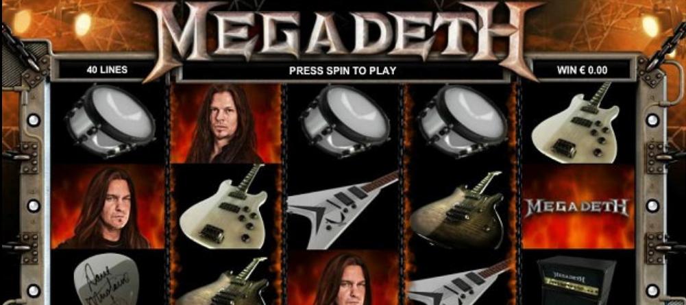 Lähetä kuva 5 huippuluokan automaattipeliä joita inspiroivat lahjakkaat artistit Megadeath - 5 huippuluokan automaattipeliä, joita inspiroivat lahjakkaat artistit